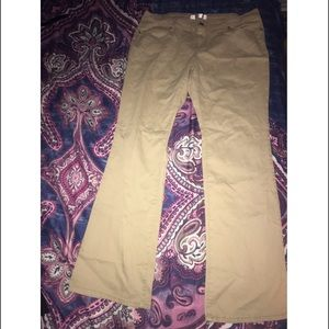 boot-cut khakis